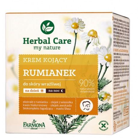 Herbal Care Krem kojący RUMIANEK (etykieta w wersji angielskiej)