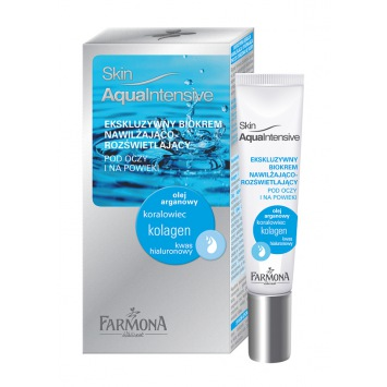 Skin Aqua Intensive Ekskluzywny biokrem nawilżająco-rozświetlający pod oczy i na powieki 15ml
