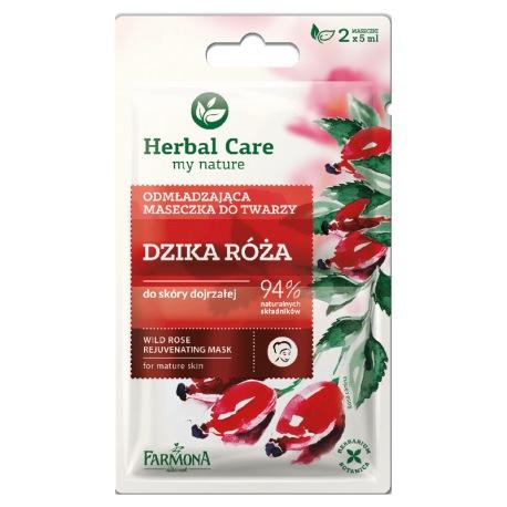 Herbal Care Maseczka odmładzająca DZIKA RÓŻA 2x5ml