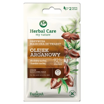 Herbal Care Maseczka odżywcza OLEJEK ARGANOWY 2x5ml