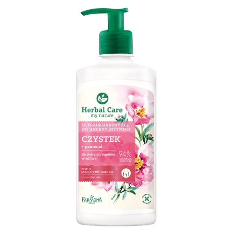 Herbal Care Ultradelikatny żel do higieny intymnej Czystek 330ml