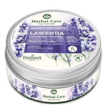 Masło do ciała Lawenda z mleczkiem waniliowym HERBAL CARE 200ml