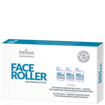 FACE ROLLER Aktywny koncentrat anti-ageing do zabiegów mezoterapii mikroigłowej 5x5ml