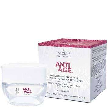 ANTI A.G.E. Fibronaprawcze serum w kremie do twarzy i pod oczy 50ml