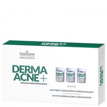 DERMAACNE+, Aktywny koncentrat normalizujący 5x5ml