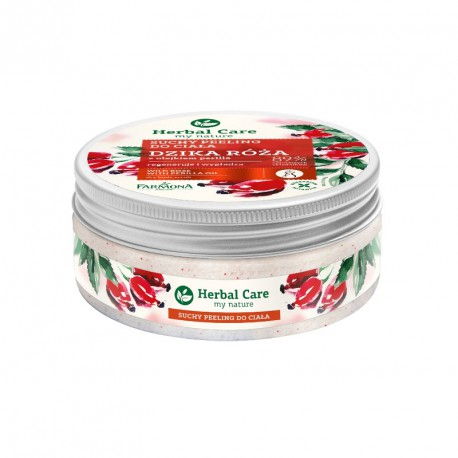 Herbal Care Suchy peeling do ciała DZIKA RÓŻA 220g