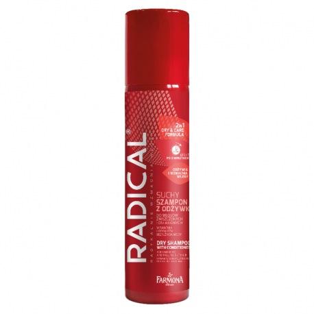 RADICAL Suchy szampon z odżywką do włosów zniszczonych i osłabionych 180ml