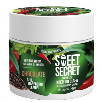 SWEET SECRET Odżywczy krem hybrydowy do ciała 200ml CZEKOLADA Z CHILI I OWOCAMI