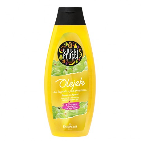 TUTTI FRUTTI Banan & Agrest olejek do kąpieli i pod prysznic 425 ml