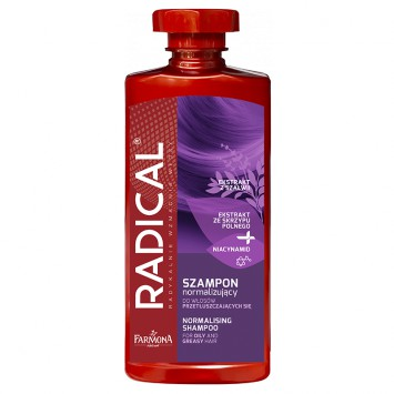 RADICAL Szampon normalizujący do włosów przetłuszczających się 400 ml
