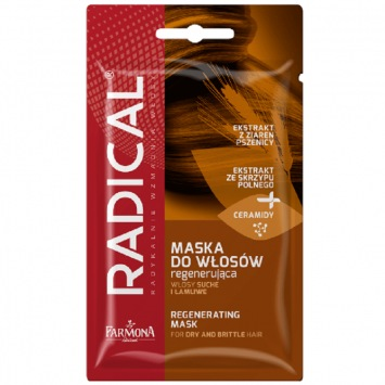 RADICAL Maska do włosów regenerująca włosy suche i łamliwe 20g