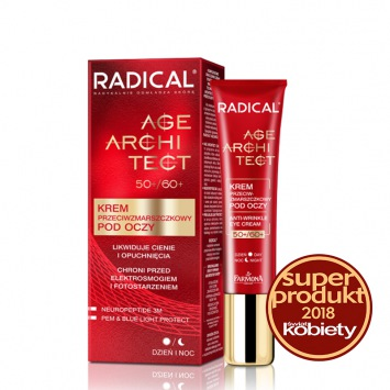 RADICAL® AGE ARCHITECT 50+/60+ Krem przeciwzmarszczkowy pod oczy likwidujący cienie i opuchnięcia, 15ml