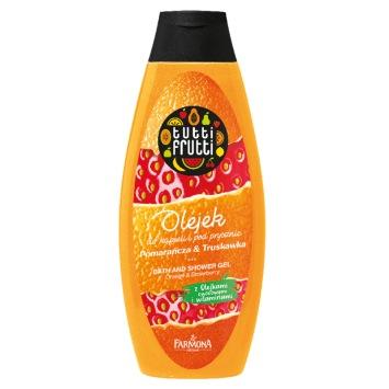 TUTTI FRUTTI Pomarańcza & Truskawka olejek do kapieli i pod prysznic 425ml