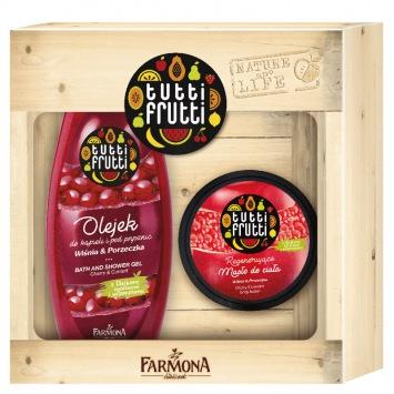 Zestaw Tutti Frutti Wiśnia&Porzeczka (olejek 425 ml +maslo 200 ml)