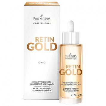 RETIN GOLD Bioaktywny złoty koncentrat napinający do twarzy, szyi i dekoltu 30ml
