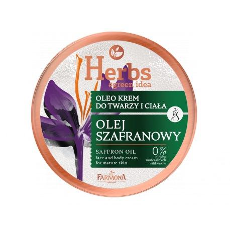 Herbs Oleo krem OLEJ SZAFRANOWY, 100ml