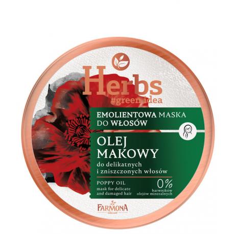 HERBS Emolientowa maska Olej Makowy do delikatnych i zniszczonych włosów