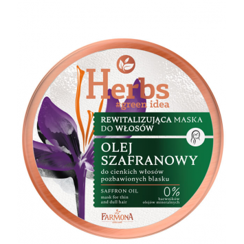 HERBS Rewitalizująca maska Olej Szafranowy do cienkich i pozbawionych blasku włosów