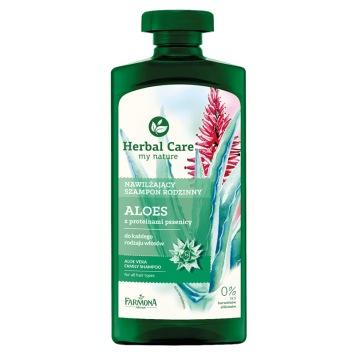 ALOES Nawilżający szampon z proteinami pszenicy  Herbal Care - 500ml