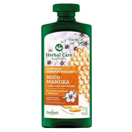 Herbal Care Odżywczy szampon rodzinny MIÓD MANUKA, 500ml