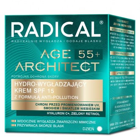 RADICAL® AGE ARCHITECT 55+ HYDRO-WYGŁADZAJĄCY KREM SPF15 Z FORMUŁĄ ANTI-POLLUTION, NA DZIEŃ, 50ml