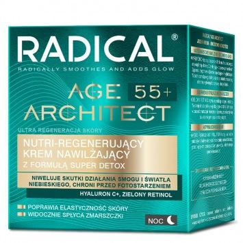 RADICAL AGE ARCHITECT 55+ NUTRI-REGENERUJĄCY KREM NAWILŻAJĄCY Z FORMUŁĄ SUPER DETOX, NA NOC, 50ml