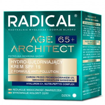RADICAL® AGE ARCHITECT 65+ HYDRO-UJĘDRNIAJĄCY KREM SPF15 Z FORMUŁĄ ANTI-POLLUTION, NA DZIEŃ, 50ml