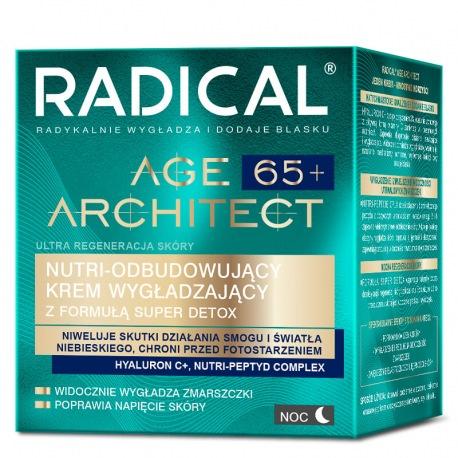 RADICAL® AGE ARCHITECT 65+ NUTRI-ODBUDOWUJĄCY KREM WYGŁADZAJĄCY Z FORMUŁĄ SUPER DETOX, NA NOC, 50ml