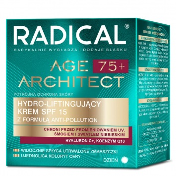 RADICAL AGE ARCHITECT 75+ Hydra-liftingujący krem SPF15 z formułą anti-pollution, na dzień, 50ml