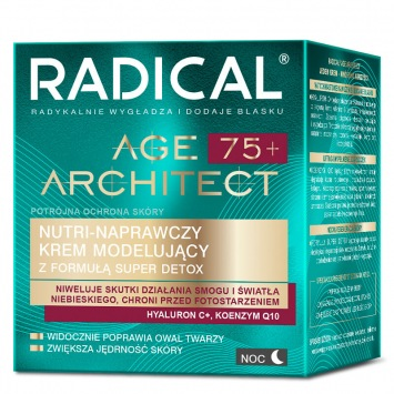 RADICAL® AGE ARCHITECT 75+ NUTRI-NAPRAWCZY KREM MODELUJĄCY Z FORMUŁĄ SUPER DETOX, NA NOC, 50ml