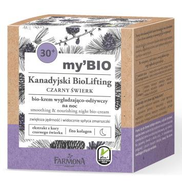 my'BIO Kanadyjski BioLifting 30+ CZARNY ŚWIERK bio - krem wygładzająco - odżywczy na noc, 50ml