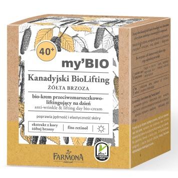my'BIO Kanadyjski BioLifting 40+ ŻÓŁTA BRZOZA bio - krem przeciwzmarszczkowo - liftingujący na dzień, 50ml