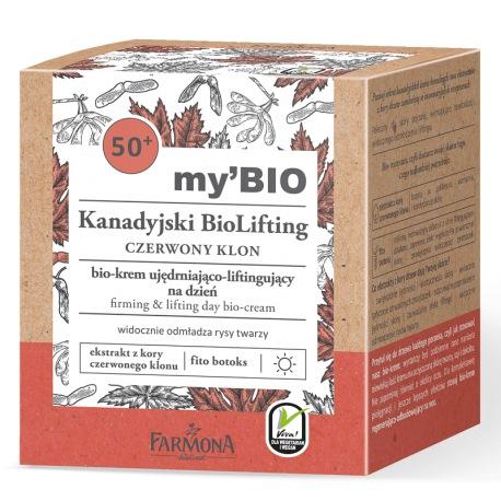 my'BIO Kanadyjski BioLifting 50+ CZERWONY KLON bio - krem ujędrniająco - liftingujący na dzień, 50ml