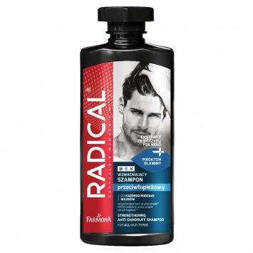 RADICAL MEN Przeciwłupieżowy szampon wzmacniający 400ml
