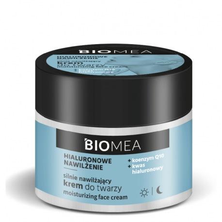 BIOMEA Krem nawilżający do twarzy koenzym Q10 kwas hialuronowy 50 ml