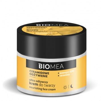 BIOMEA Krem odżywczy do twarzy na dzień i na noc koenzym Q10+ceramidy 50 ml