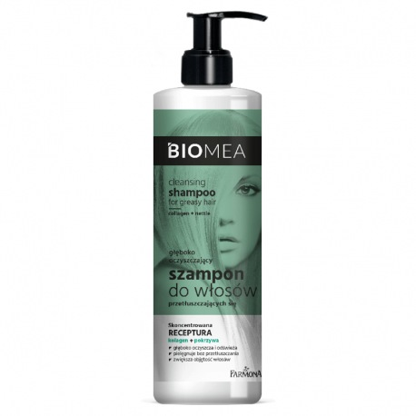 BIOMEA Szampon oczyszczający do włosów przetłuszczających się 400 ml