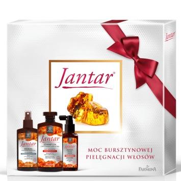 Zestaw Jantar do włosów zniszczonych  (szampon, odżywka, mgiełka)