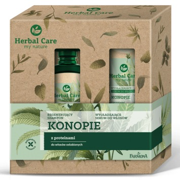 Zestaw Herbal Care pielęgnacja włosów Konopie (szampon, serum)