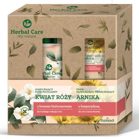 Zestaw Herbal Care pielęgnacja twarzy Arnika i Kwiat Róży (krem do twarzy, płyn micelarny)