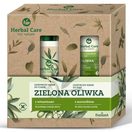 Zestaw Herbal Care pielęgnacja ciała Oliwka (balsam, krem do rąk)