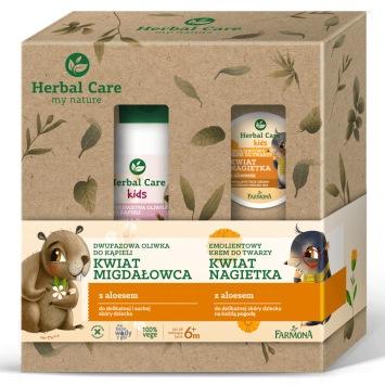 Zestaw Herbal Care KIDS (Dwufazowa oliwka hydrofilna do kąpieli, oleo krem)