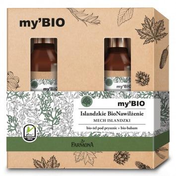 Zestaw my'BIO pielęgnacja ciała Islandzkie BioNawilżenie (balsam, żel pod prysznic)