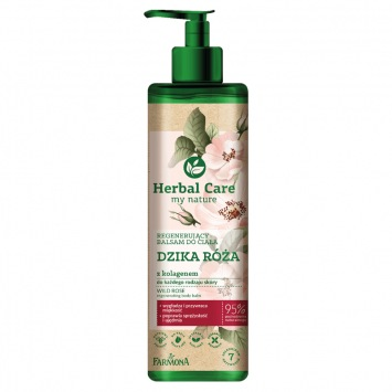 HERBAL CARE Regenerujący balsam do ciała DZIKA RÓŻA z kolagenem, 400ml