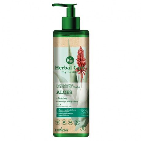 Herbal Care Nawilżające mleczko do ciała ALOES z betainą, 400ml