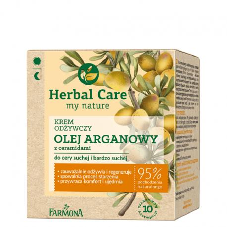 HERBAL CARE Krem odżywczy OLEJ ARGANOWY z ceramidami 50ml