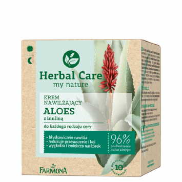 HERBAL CARE Krem nawilżający ALOES z inuliną 50ml