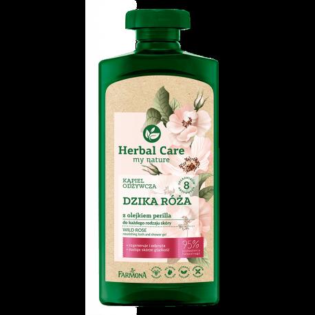 Herbal Care Kąpiel odżywcza DZIKA RÓŻĄ z olejkiem perilla, 500ml