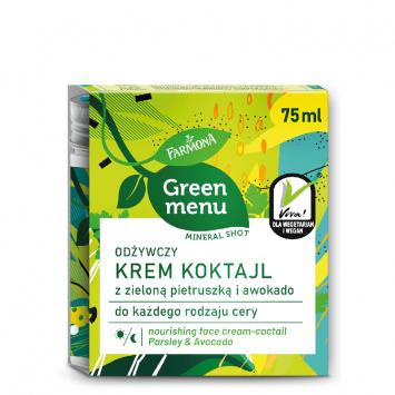 GREEN MENU Odżywczy krem koktajl z zieloną pietruszką i awokado 75ml