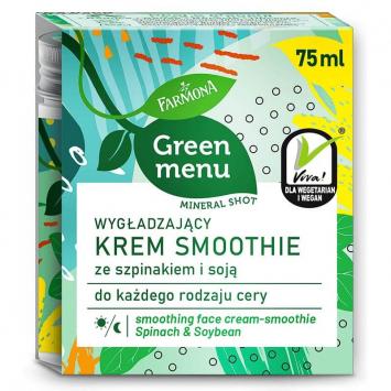 GREEN MENU Wygładzający krem smoothie ze szpinakiem i soją 75ml